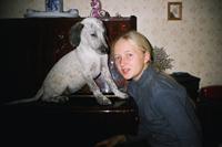 Люся (щенок Боси и Нарика)и Юля- прислала Елена